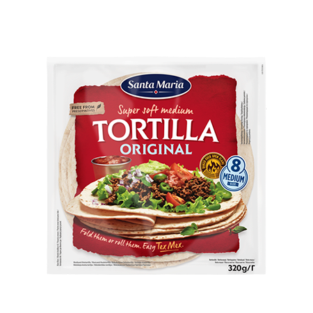 Мексиканская пшеничная тортилья 8 Santa Maria Tortilla Original Medium